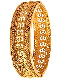 BFC-Buy For Change Traditional Gold Plated Openable Bangles/ Bracelet/ Kada For Woman & Girls