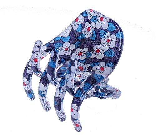 Liberty Blue Mitsy Pince à cheveux | Fabriquée à la main en France