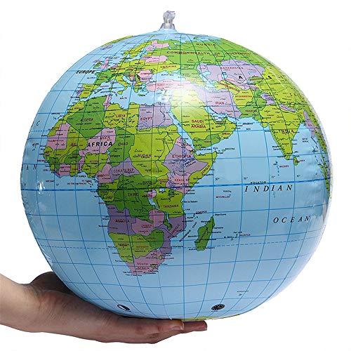 16 Zoll Aufblasbare Globus Welt Erde Ozean Karte Ball Geographie Lernen Pädagogische Wasserball Kinder Spielzeug Home Office Dekoration