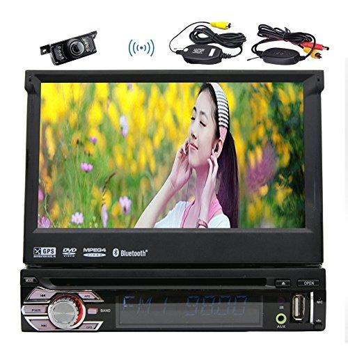EINCAR 1DIN Autoradio im Schlagautoradio Bluetooth FM AM-Empfänger Windows-System Audio Stereo Einzel Din 8GB GPS Navigation-Steuergerät Unterstützungs-GPS-DVD-CD-Player USB-SD-1080P (Einzel-din Auto Stereo Cd-player)