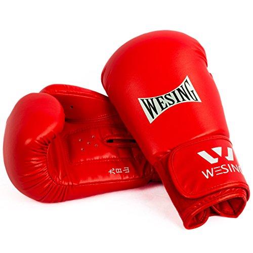 wu designs Wesing Sanda Handschuhe - Boxen - Sparring - MMA - Sanshou - Rot 10oz