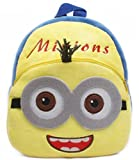 Richy Toys Minions Cute Kids Plush Backpack Cartoon Toy Children's Gifts Boy/Girl/Baby/Student Bags Decor School Bag For Kids (Minions)