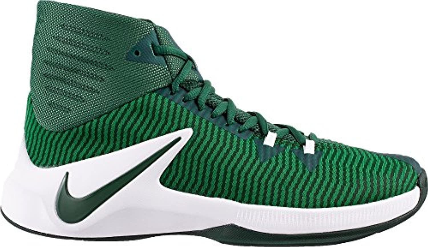 Nike Men's Zoom Clear Out Basketball Shoes (Green/White  10)