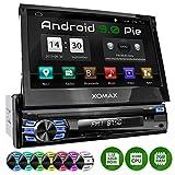 XOMAX XM-VA707 Autoradio con Android 9 I Quad Core, 2GB RAM, 32GB ROM I Navigatore GPS I Supporto WIFI, 4G, DAB, OBD2 I Bluetooth I Touch Screen 7'' I USB, SD, AUX, RDS I 1 DIN