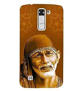 For LG K7 :: LG K7 Dual SIM :: LG K7 X210 X210DS MS330 :: LG Tribute 5 LS675 sai ji case ( god, bhagwan, sai, sai baba, lord ) Printed Designer Back Case Cover By Living Fill