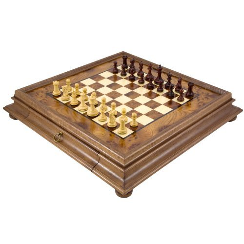 Le Sandringham Tres Corone Traditionnel Set D'échecs
