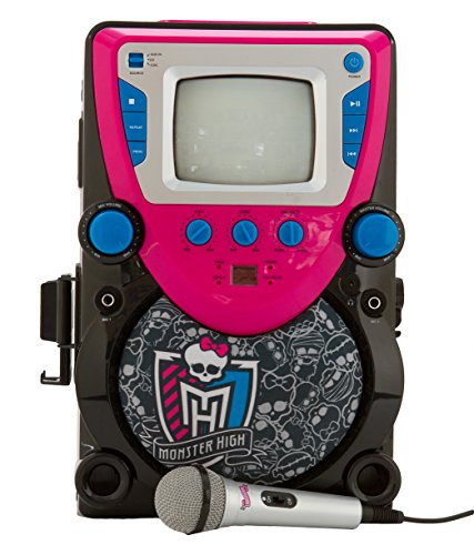 Sakar 68148-INT-UK - Monster High CD+G Karaoke-Maschine mit Schirm (Karaoke-maschine Sakar)