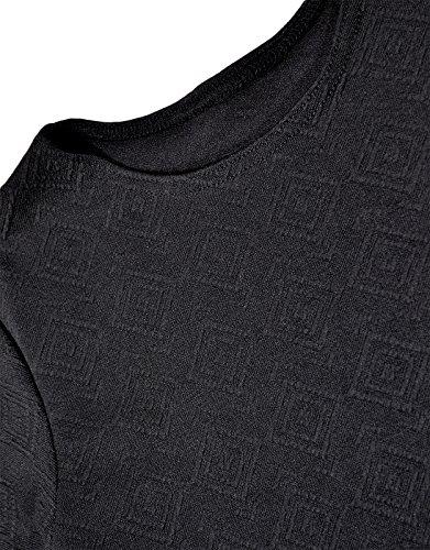 Generic - Robe - Robe moulante - Manches Courtes - Femme Noir - Noir