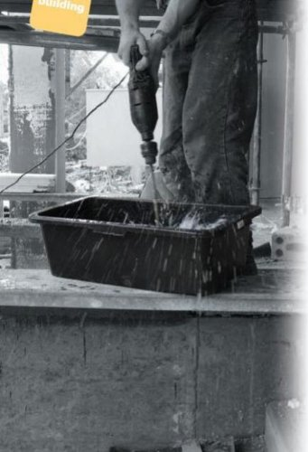 40 L Betonbutte Mörtelkasten Betonmischer Mörtelwanne schwarz Zement wählbar