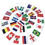 Bloomma Rusia World Cup Banner, 5 set 2018 Copa del Mundo Top 32 String Flag Banners International Flag Bunting para Party Bar Club Celebration