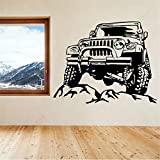 stickers muraux arbre chocolat Nouveau Jeeps Rock Car Racing Autocollant Homme Cave...