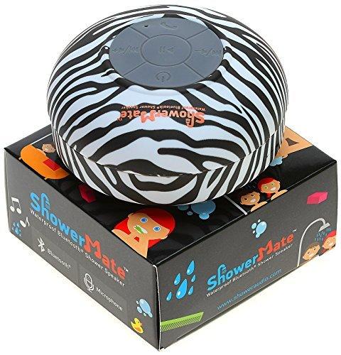 Showermate Wireless Bluetooth Lautsprecher | Wasserdichtes Duschradio mit Freisprecheinrichtung und eingebautem Mikrofon | Kompatibel mit allen Bluetooth Geräten - Schwarz und Weiß