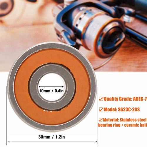 Kugellager,3x10x4mm 1 stück Edelstahl Hybrid Keramik Angelrolle Wellenlager,speziell für Angelschnurrollen