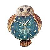 Hootin 'Tickin' gufo orologio da parete con pendolo Tail