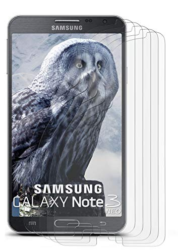 5X Samsung Galaxy Note 3 Neo | Schutzfolie Matt Bildschirm Schutz [Anti-Reflex] Screen Protector Fingerprint Handy-Folie Matte Bildschirmschutz-Folie für Samsung Galaxy Note 3 Neo Bildschirmfolie