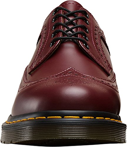 Dr.Martens Mens 3989 5-Eyelet Leather Shoes Cherry Red Smooth