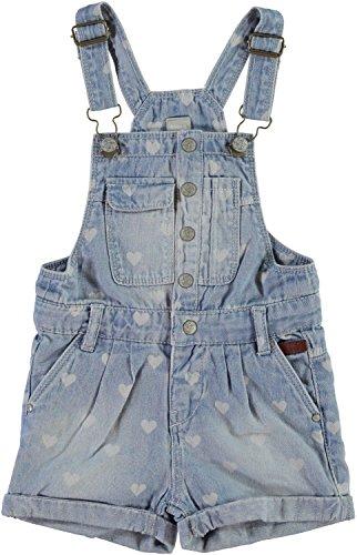 NAME IT Mädchen Shorts Latzhose Solalma mini, Größe:110;Farbe:light blue denim