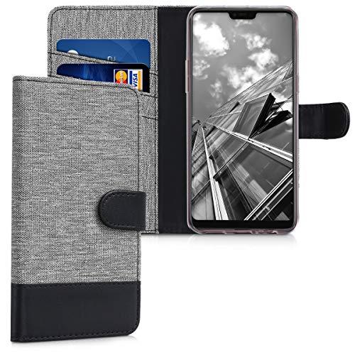 kwmobile Oppo F7 Hülle - Kunstleder Wallet Case für Oppo F7 mit Kartenfächern und Stand