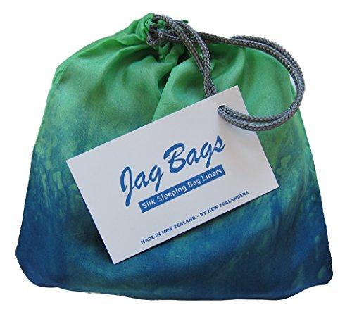 JagBag Innenschlafsack, aus reiner Seide, Standardgröße, pfau (Tasche Seide Bogen)