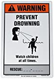 Poolmaster 40354nspf verhindern ertränken Schild für privaten oder gewerblichen Pools
