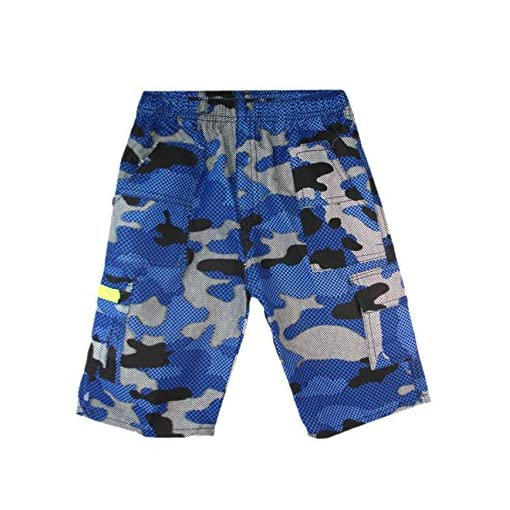 Boys-Camouflage-Checked-Shorts-Multipocket--Length-Combat-Kids-Age-3-14-Years