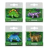 6 x HC-Handel 913546 Radiergummi 3D Dino Dinosaurier 5 cm verschiedene Ausführungen