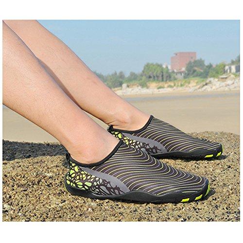 PURVIS , Chaussures aquatiques pour homme noir/vert