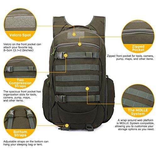 Mardingtop Military Rucksacks Tactical Molle Backpack Sport Outdoor Camping Hiking Trekking Bag