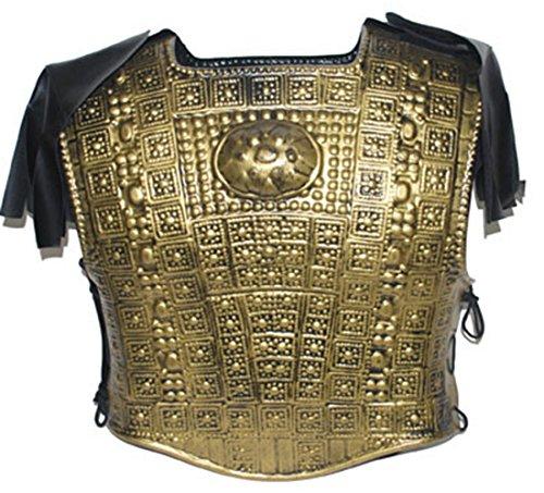 Ritter Kostüm Brustpanzer glänzender Schutz Warrior Kostüm Kämpfer, One Size, Bronze (Viktorianischen Diener Kostüme)
