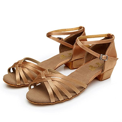 Wxmddn Latino scarpe da ballo colore luce scarpe da ballo figli adulti morbido esercizio di suole di calzature scarpe da ballo quattro stagioni Colore della luce