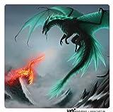 Draghi - Dragoni Combattenti Sticker Adesivo (9 x 9cm)