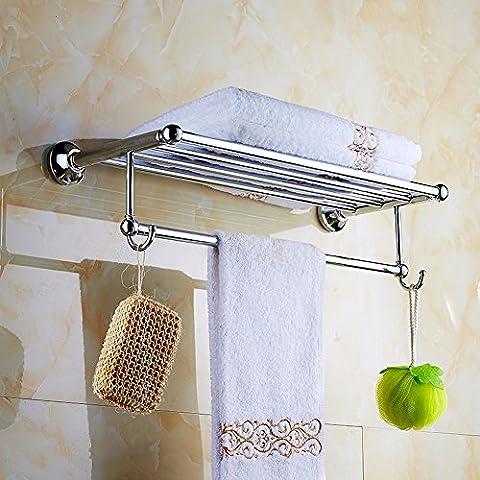 KHSKX Doppia porta asciugamani porta asciugamani in acciaio inox bagno bagno accessori hardware non punzone