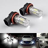 RunQiao 2x 15W H8 H9 H11 anwenden Samsung 15 SMD LED Nebelscheinwerfer Weiß Tagfahrlicht Lampe