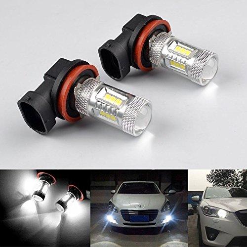 Preisvergleich Produktbild RunQiao 2x 15W H8 H9 H11 anwenden Samsung 15 SMD LED Nebelscheinwerfer Weiß Tagfahrlicht Lampe