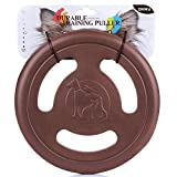 ZNOKA Three-hole Frisbee, Pets Toy Flying Disc EVA Flyer for Dog Puppy Play New Pet Outdoor Disc Toys (Brown)