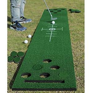 2-FNS Golf Beer Pong Spiel-Set, Golf-Putting-Set, grüne Matte mit 4 Golfbällen, Golf-Trainingsmatte für drinnen und…