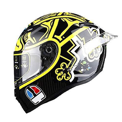 Woljay Integralhelm Helm Motorradhelm Motocross Offroad Moto Street Helme Fahrrad Helme (L, Frosch Gelb)