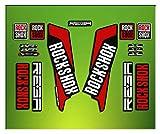 Pegatinas HORQUILLA Rock Shox REBA 2016 ELX22 Stickers Aufkleber AUTOCOLLANT Decals Bicicleta Cycle MTB Bike 26