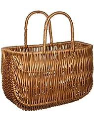 Basil - Cesto de mimbre para la bicicleta, 42 x 20 x 26 cm, color marrón