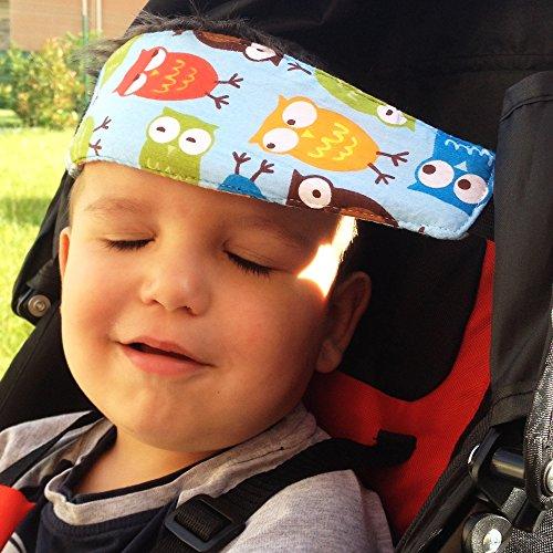 Mr. Cale Kopf Eulen Kind – Kinderwagen Zubehör – für Kinderwagen nur – Verhindert, dass der Kopf des Babys / Kind nach vorne fällt beim Schlafen – Komfortabler , Convenient Größe – Ideal für Schlaf Ihres Kindes während der Wanderungen .