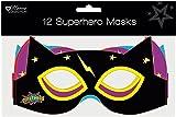 Pack de 12sombreros infantiles de cartón para cumpleaños–Máscaras de Superhéroes