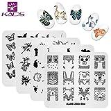 Kads nail art timbro piastra cute Animal Series nail stamping piastra modello piatto di immagine decorazione nail art tool