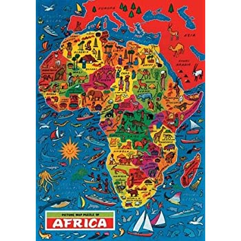Africa Map Jigsaw Puzzle by James Hamilton Grovely Amazoncouk