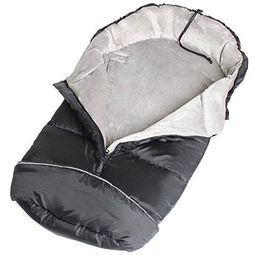 TecTake® Winterfußsack für Kinderwagen Buggy Autositz schwarz