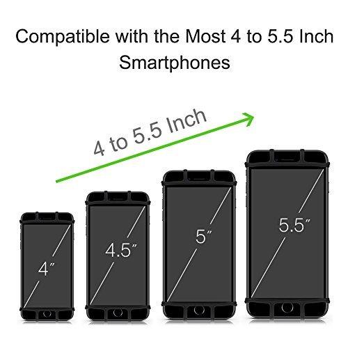 VUP Running Armband, 180° drehbar, Universal Handy Halterung, Running Kompatibel mit iPhone Samsung All Smartphone – Schwarz