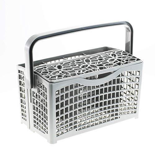 2in1 Besteckkorb Spülmaschine Geschirrspüler   Universal Spülmaschinenkorb Besteckhalter   60cm Breite Spülmaschine   Maße: [22,5 x 8,3/4,5 x 21,2cm]   aus hitzebeständigem Kunststoff von CleanMonster