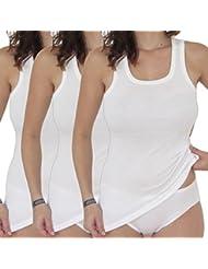 HERMKO 17325 Shirts longue Femme coton / modal Lot de 3