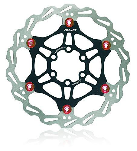 XLC 1229110 BP-D21 Pastiglie Freno Organica, Disco Unisex, Nero/Rosso, Durchmesser 203 mm