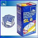 ATE Bremsflüssigkeit DOT4 SL6 5-Liter DOT 4 5L SL 6 Kanister SL.6 5 Liter