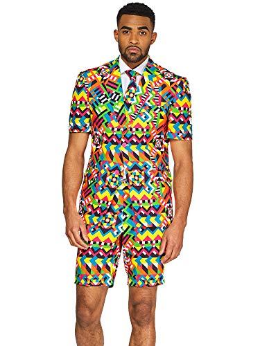 �ge für Herren in verschiedenen Drucken - besteht aus Sakko, Hose und Krawatte, Abstractive, 50 ()